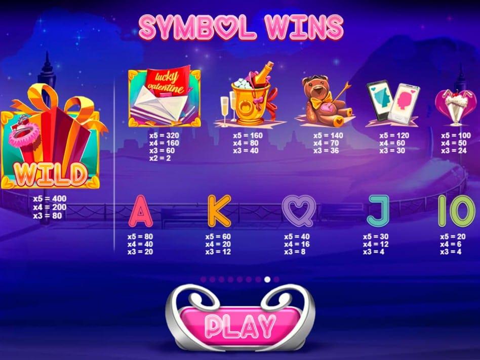 Lucky Valentine Slot Symbols