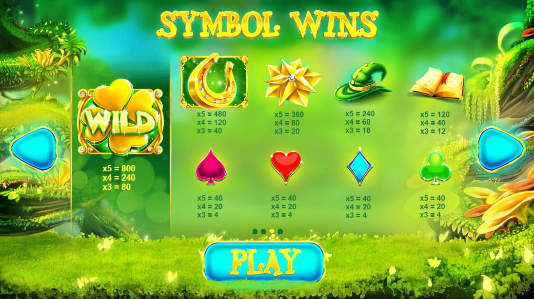 Lucky Wizard Symbols