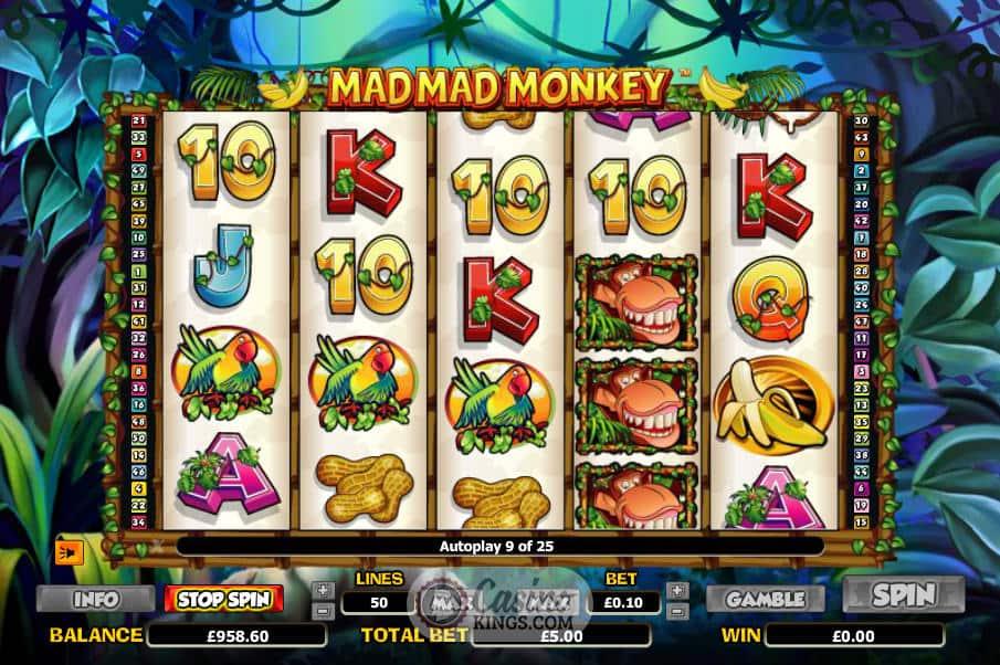 Mad Mad Monkey Slots UK