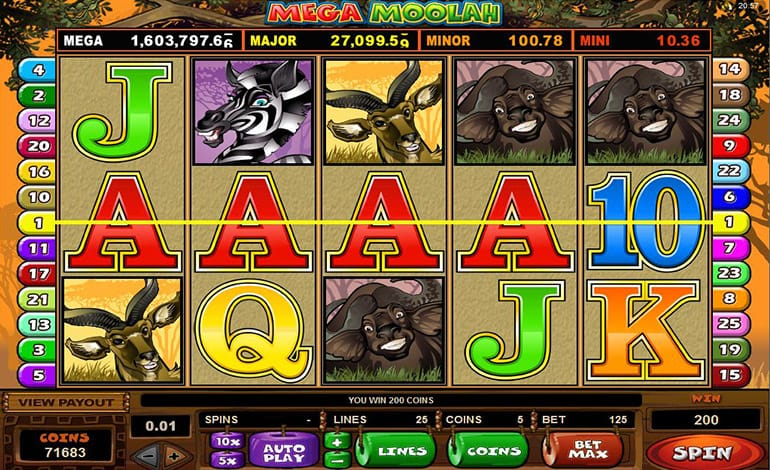 Mega Moolah Slot Bonuses Image