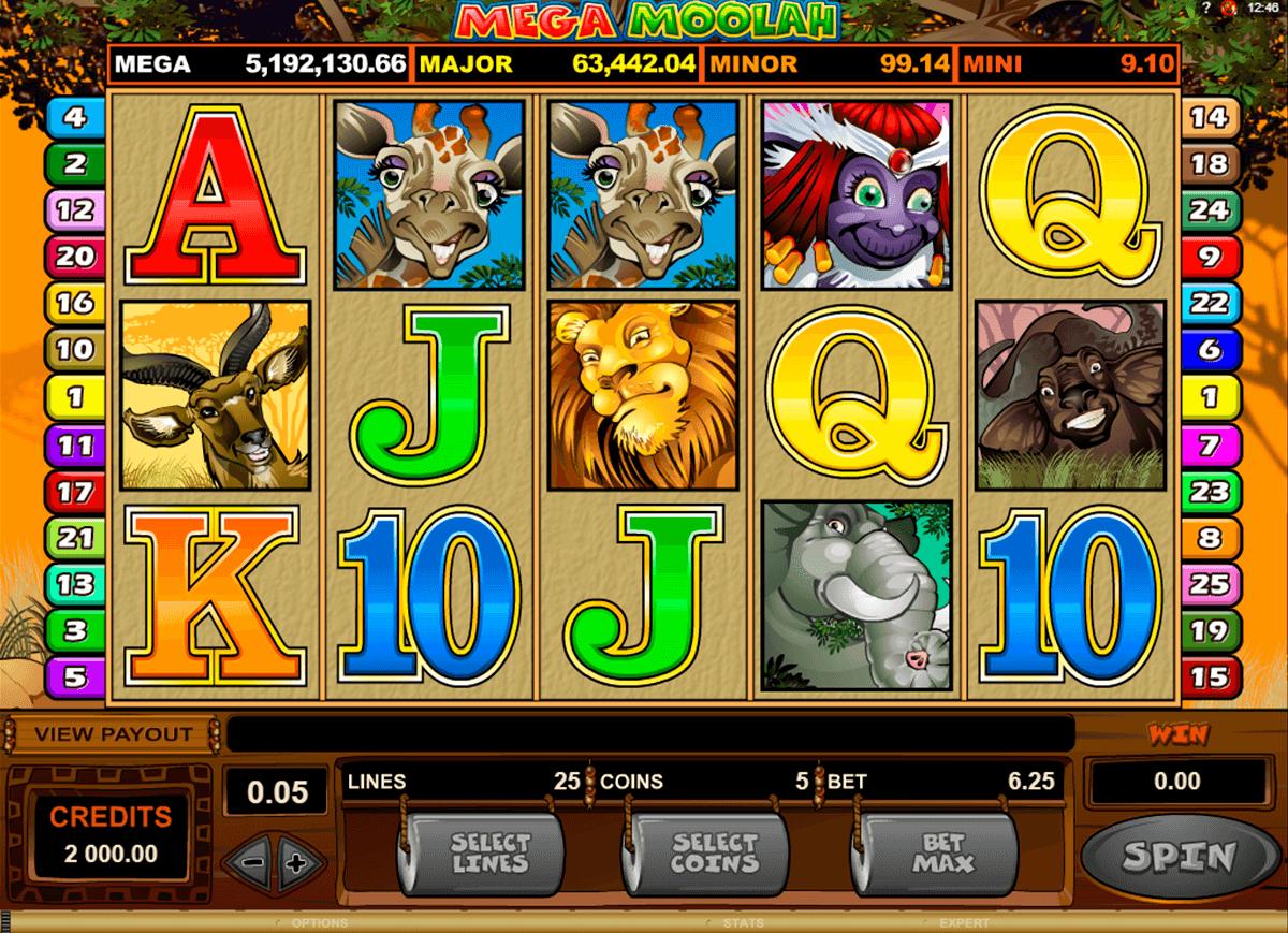 Mega Moolah slot game play