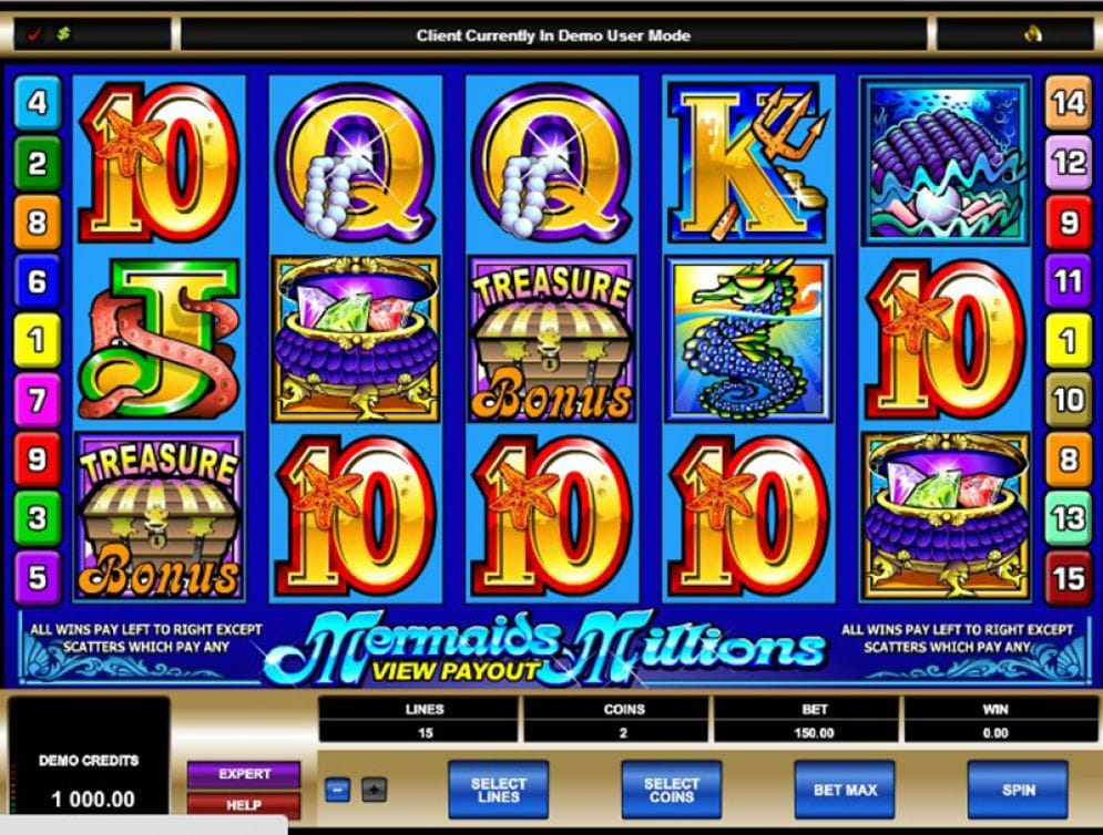 Mermaids Millions Slots UK