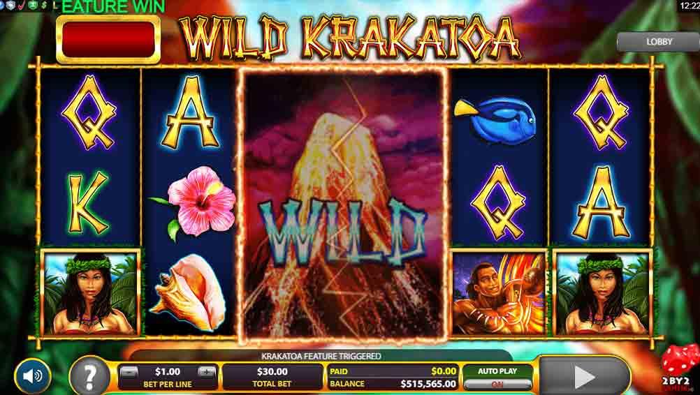 Wild Krakatoa Slots Game