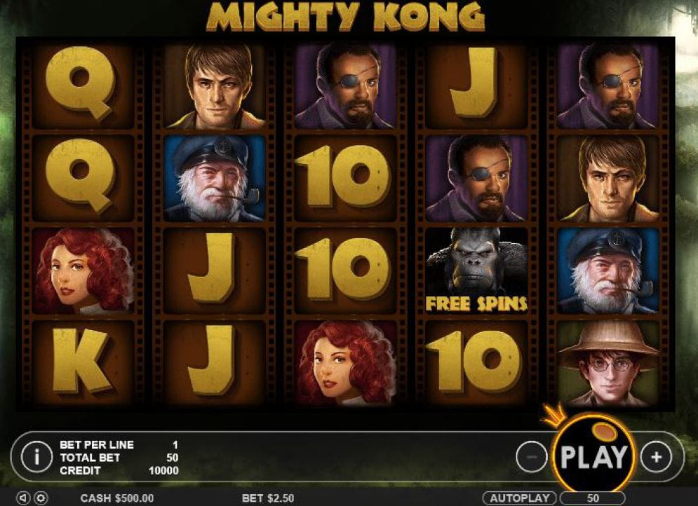Mighty Kong Casino Games