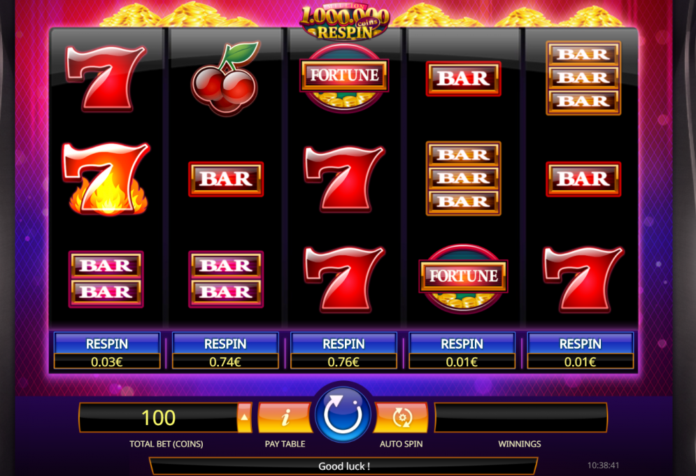 Million Coins Respin Casino Game