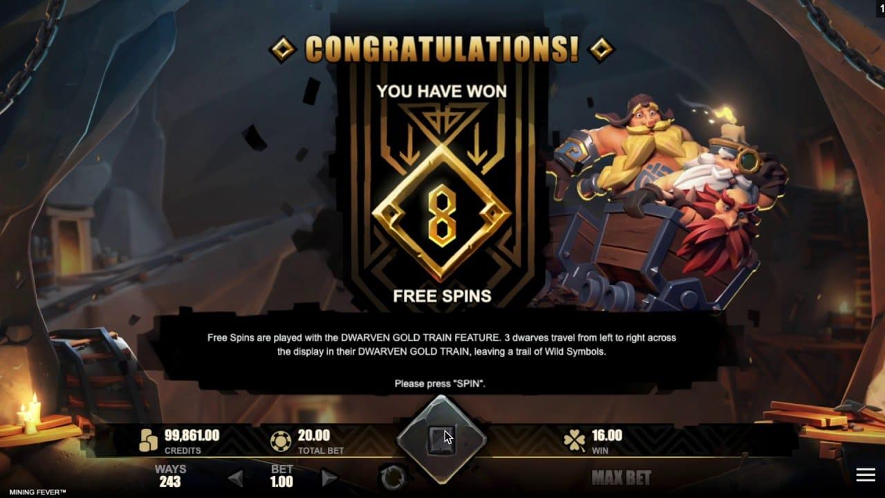 Mining Fever Slot Bonus Spins