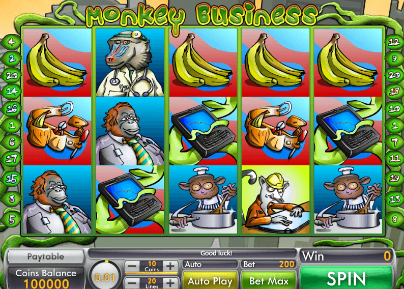 Monkey Business Slots Gameplay
