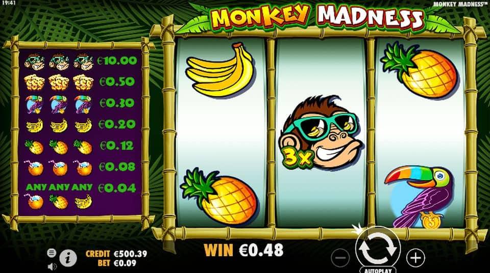 Monkey Madness Slots Game