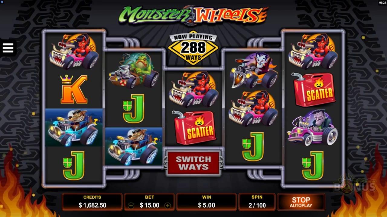 Monster Wheels Slots Online