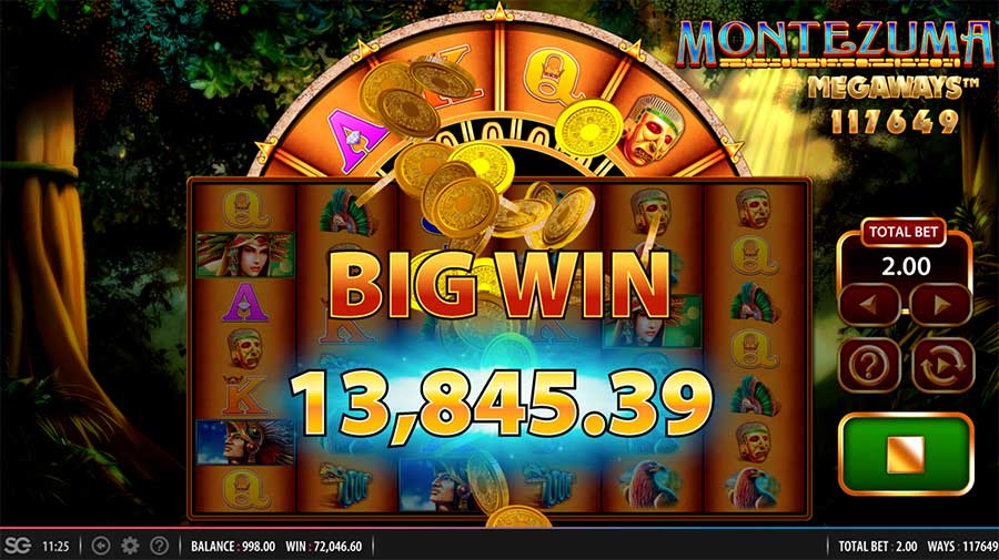 Montezuma MegaWays Slot Big Win