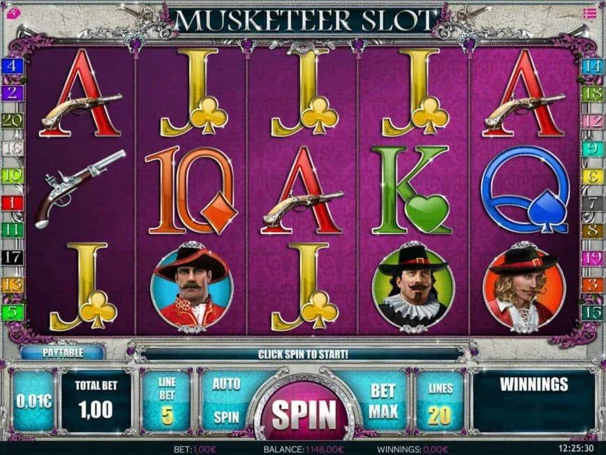 Musketeer Slots Online