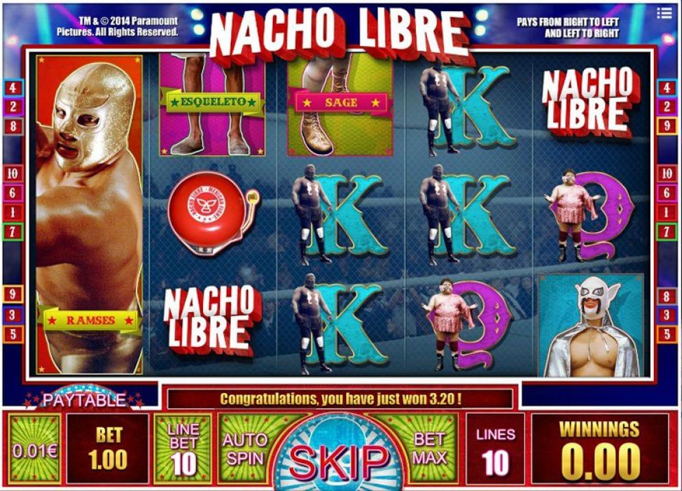 Nacho Libre Casino Games