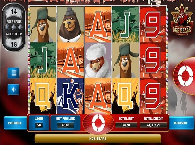 KGB Bears Slots UK Casino