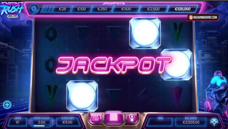 Neon Rush Splitz Slots Jackpot