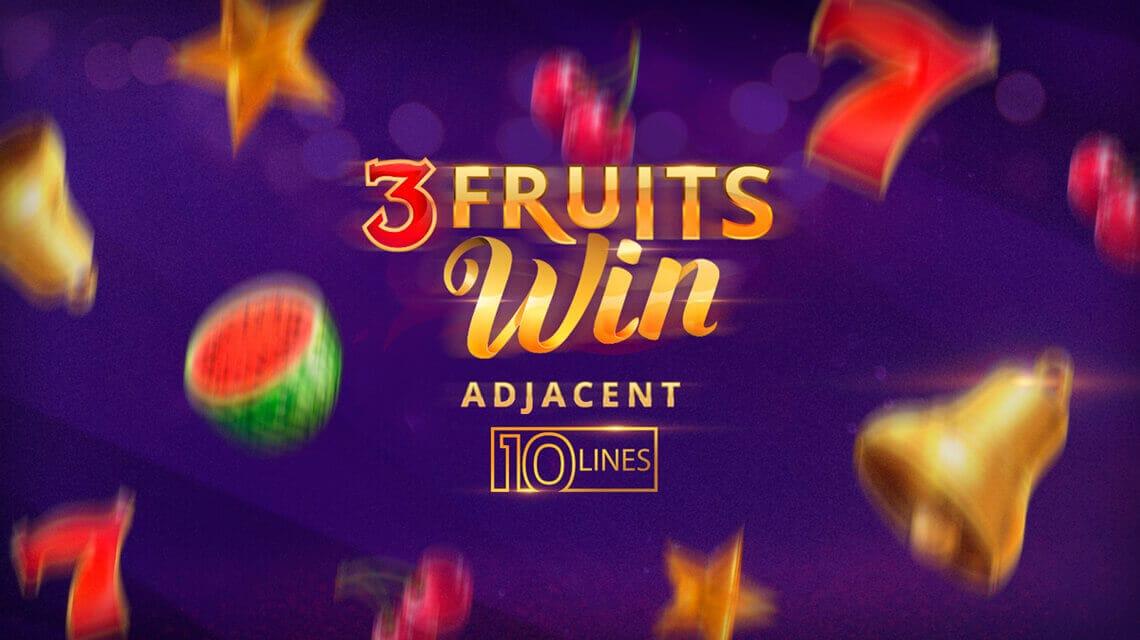 3 Fruits Win: 10 Lines Slots Mega Reel