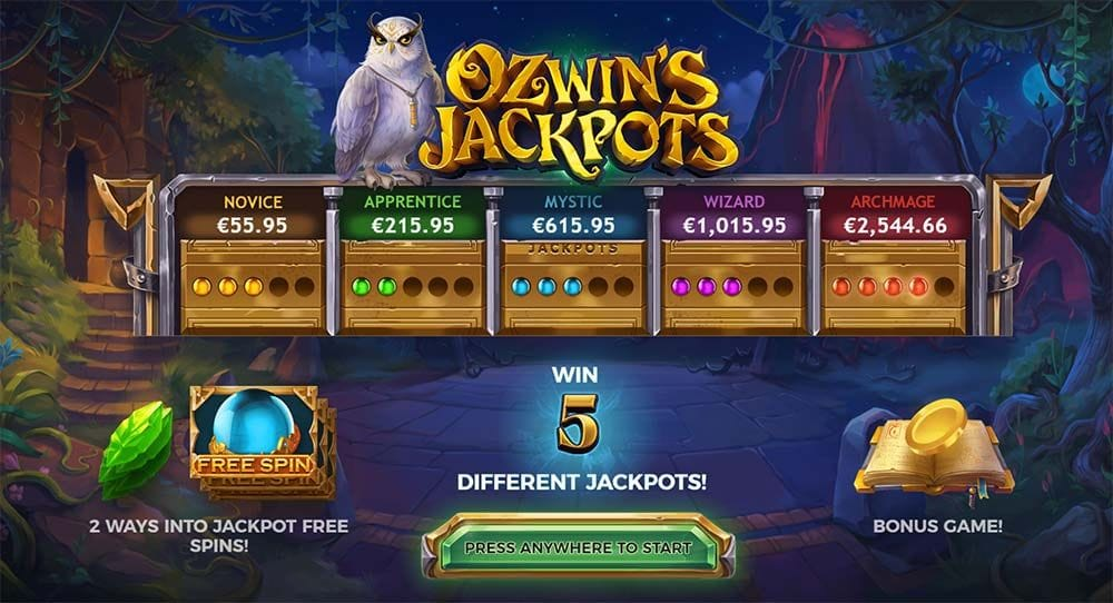 Ozwin's Jackpots Casino Game
