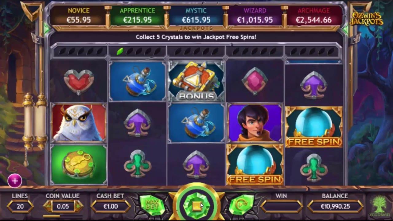 Ozwin's Jackpots Slots Online
