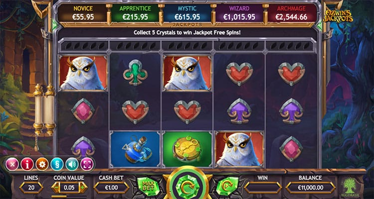 ozwin's jackpot game online play