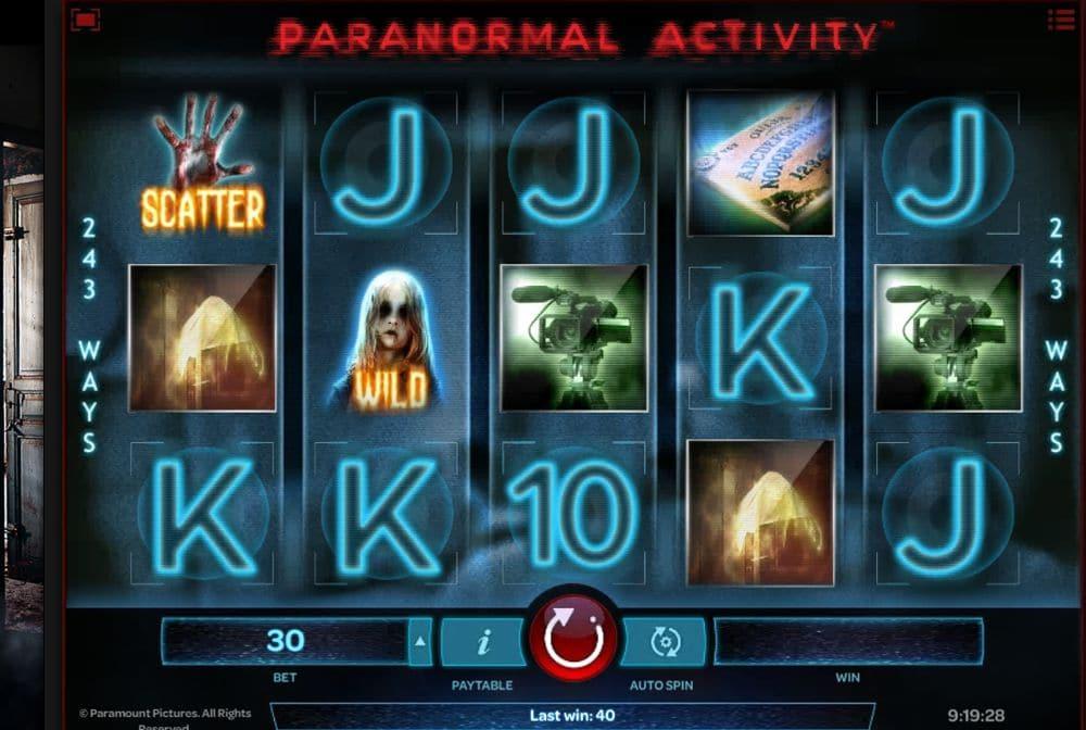 Paranormal Activity Slots Uk