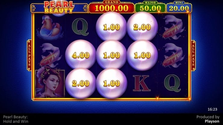 Pearl Beauty Hold and Win Slots UK