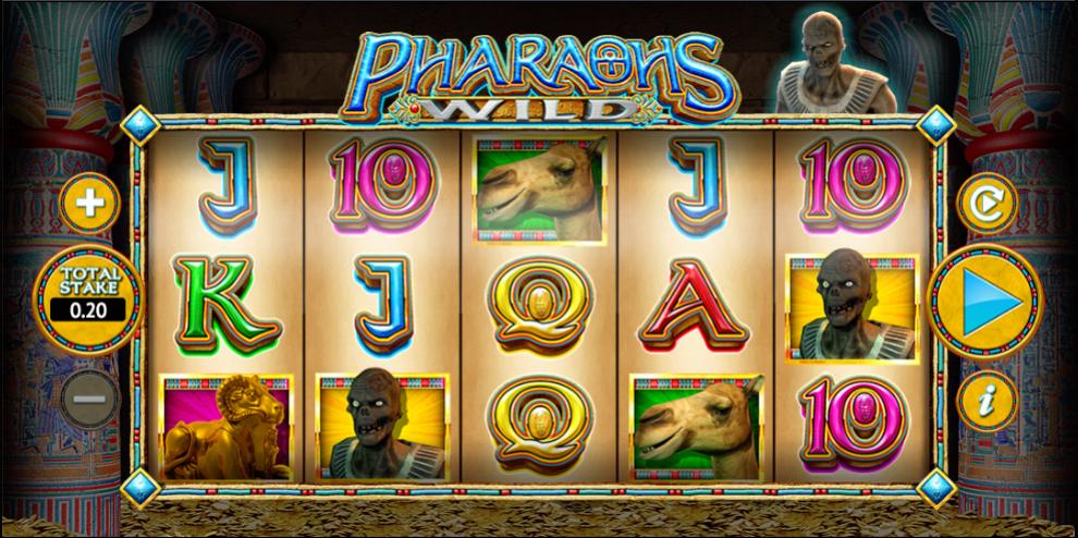 pharaohs wild game slots