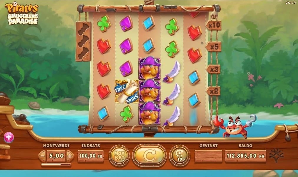 Pirates Smugglers Paradise Slot Gameplay