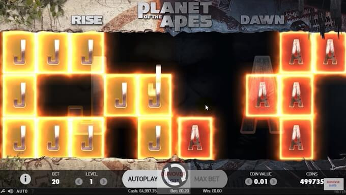 Planet of the Apes Slots Gameplay