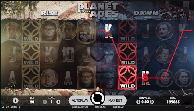 Planet of the Apes Slot Reels