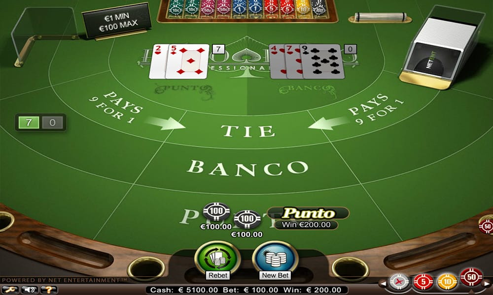 Punto Banco Pro Table Game