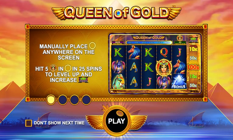 queen of gold play online