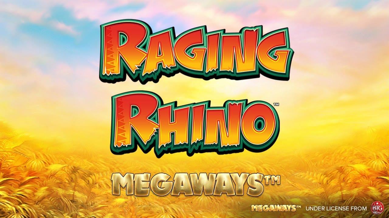 Raging Rhino MegaWays Slot Logo Mega Reel