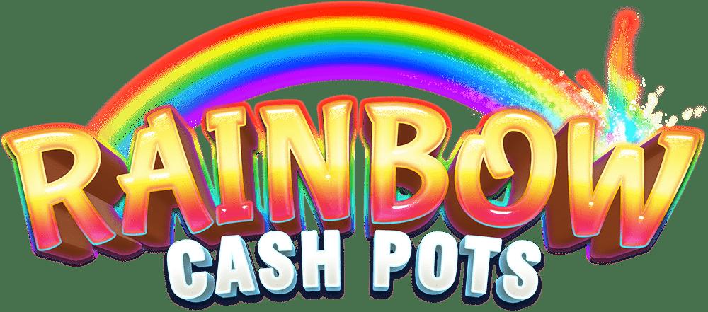 Rainbow Cash Pots Slot Logo Mega Reel