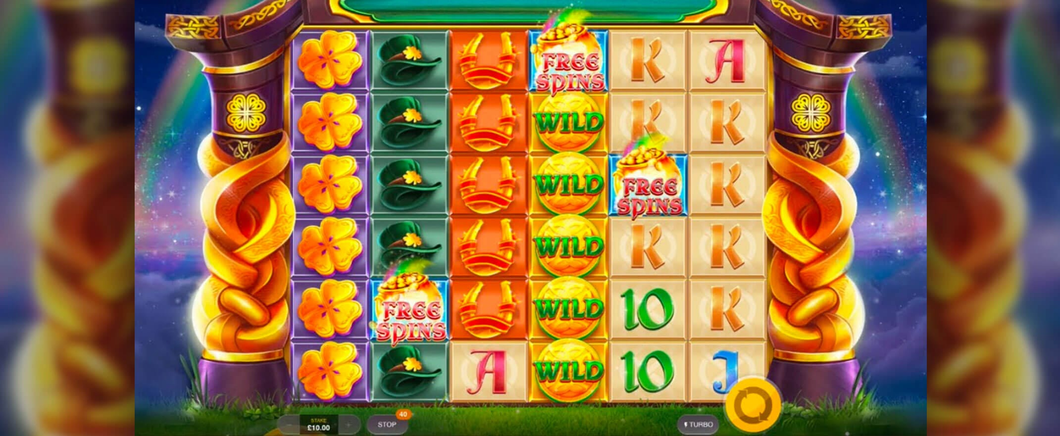 Rainbow Jackpots Power Lines Slots Game
