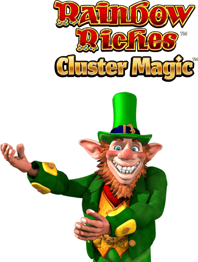 Rainbow Riches Cluster Magic Slot Logo Mega Reel