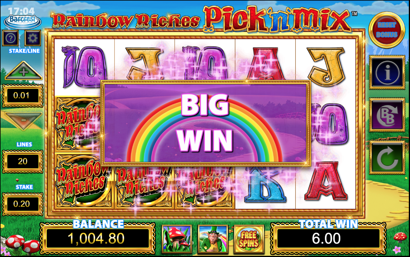 rainbow riches pick n mix free slots