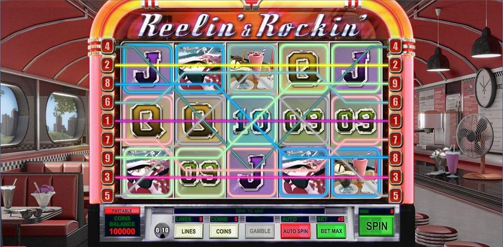 Reelin & Rockin Slot Gameplay