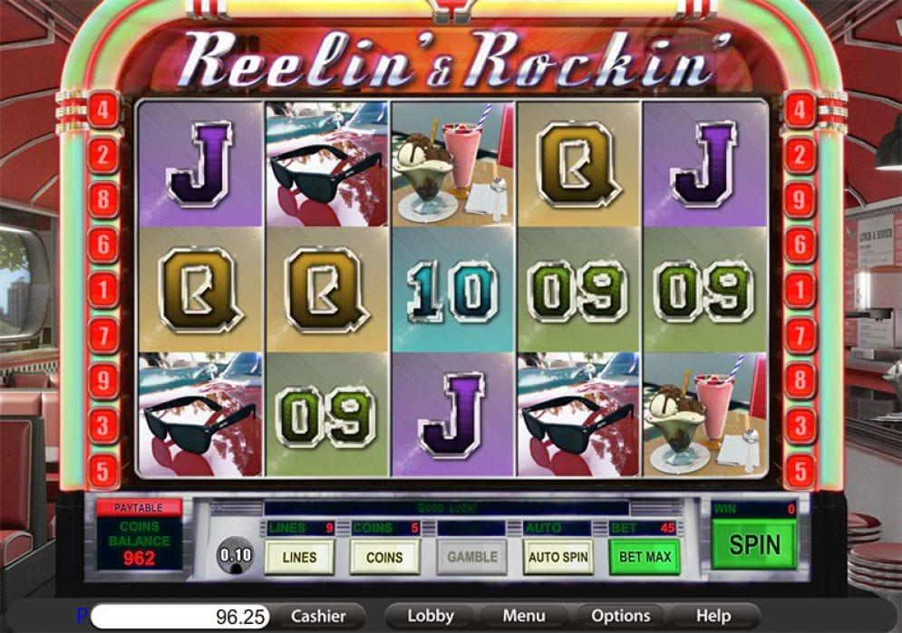 Reelin & Rockin Slots Reels