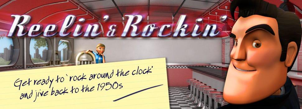 Reelin & Rockin Slot Logo Mega Reel