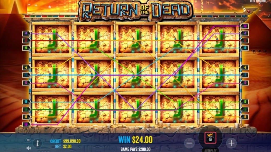 Return of the Dead Slots Gameplay