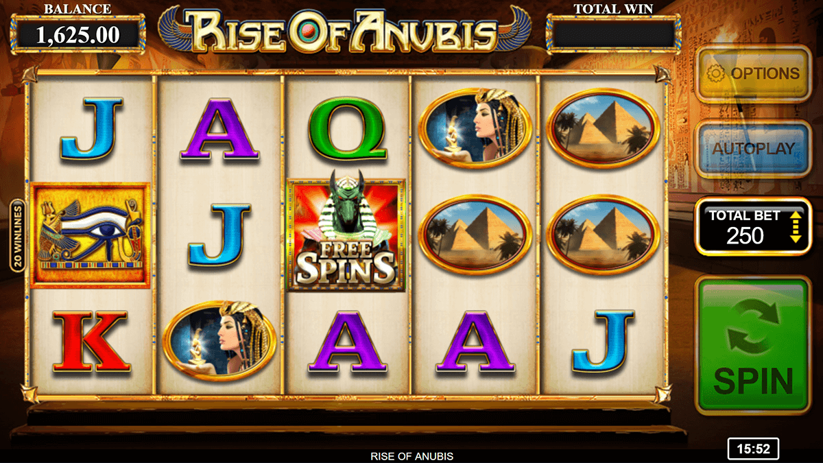 Rise of Anubis Slot Gameplay