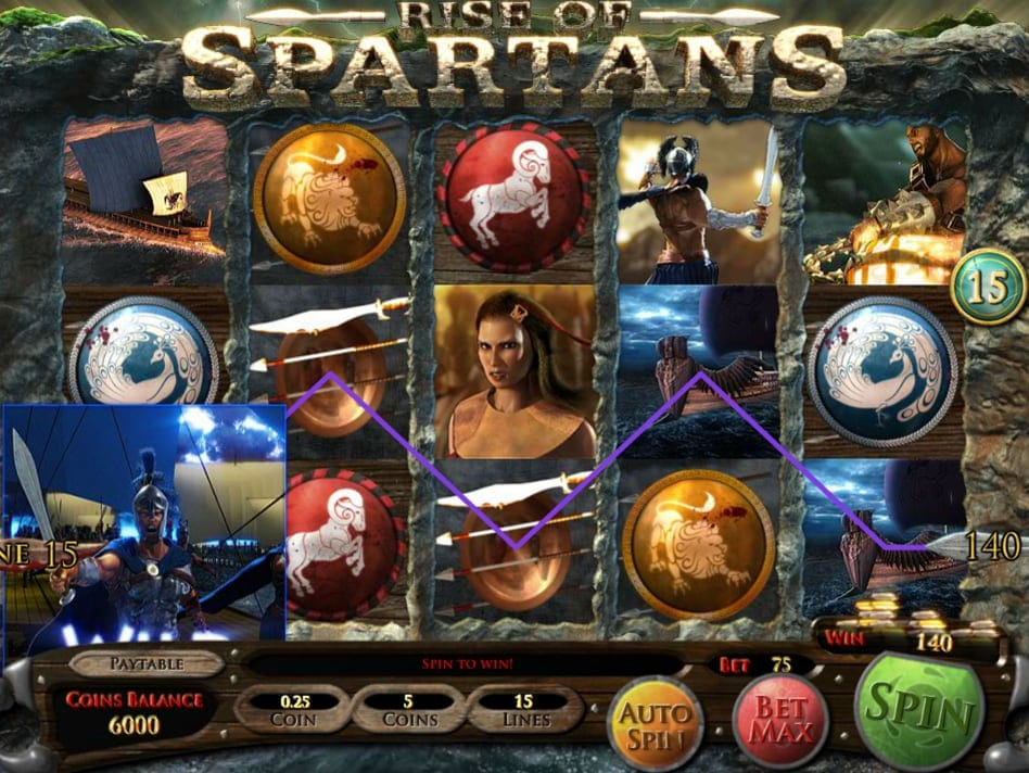 Rise of Spartans Slots Online