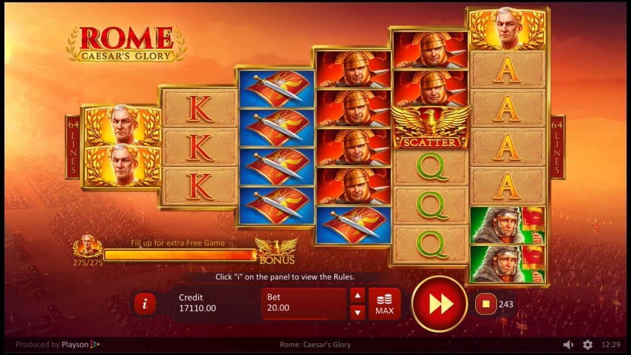 Rome: Caesar's Glory Slots UK