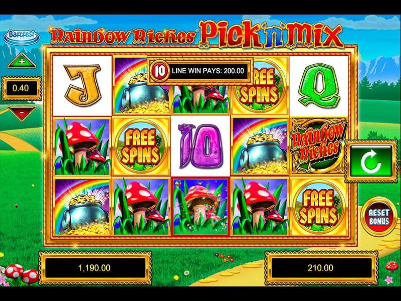 rainbow riches pick n mix slots