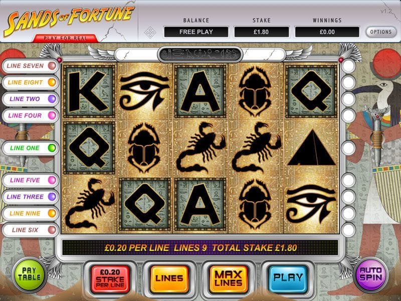 sands of fortune slots casino