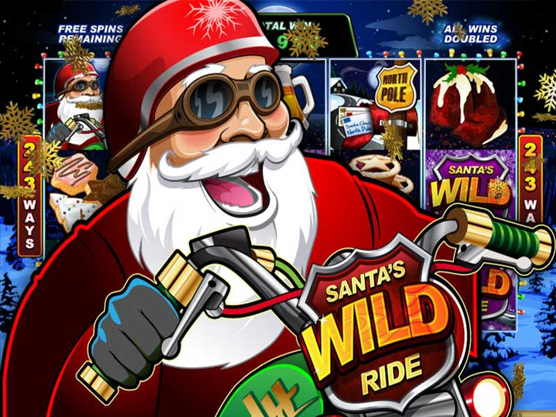 santas wild ride slot game online