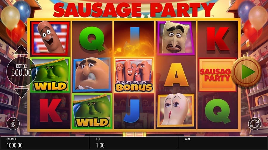Sausage Party Slots UK