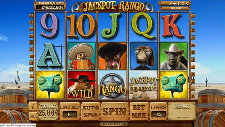 Jackpot Rango Slot UK Mega Reel