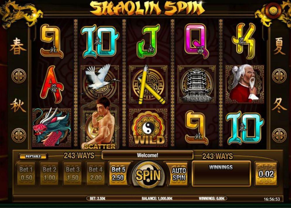 Shaolin Spin Slots Online