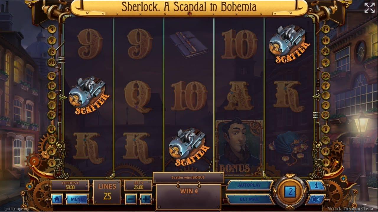 Sherlock: A Scandal in Bohemia Slot Gameplay