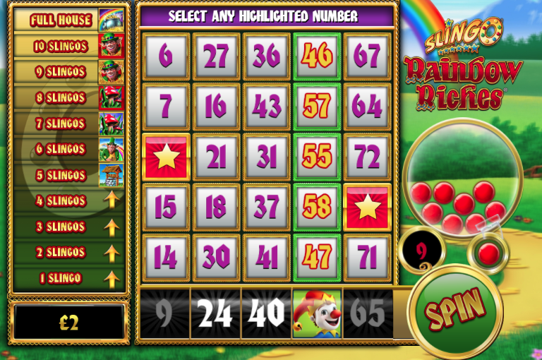 Slingo Rainbow Riches Slot Online